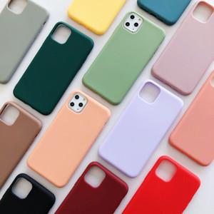 Capa de Silicone Líquido de Candy Silicone TPU Provaproof Case Protetora Capa Para iphone Xs Max X 6 7 8 11 12 Pro Max