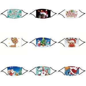 Solid Color Blank Staub Weihnachten Maske Black Face Mask Weihnachten Waschbar Cartoon-Kind-Tuch Weihnachten Maske Earhook Housekeeping Desig # 429