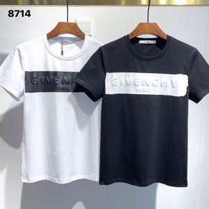 Hot Sell GIV Letter Men T Shirts #8714 Summer Short Sleeve Paris Fashion 'Luxuries' Stylist Casual Print Slim Hip Hop Tees BB 'Designers'