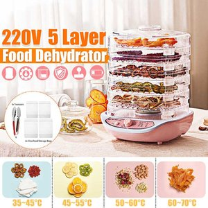 Desidratador Fruit Vegetable carne máquina de secagem Pet Snacks Secador com 5 bandejas de 220V 245W dehydrators