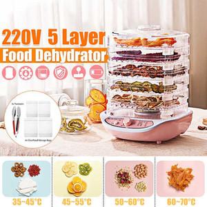 Dörrfrucht-Gemüse-Fleisch-Trocknungsautomat Pet Snacks Trockner mit 5 Einschüben 220V 245W Dehydratoren