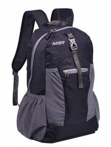 MIER leggero pieghevole Daypack dello zaino Impermeabile Handy Sci usura atletica Outdoor Apparel viaggio zaino 30L nero Y8zD #