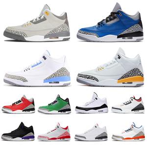 Zapatos air jordan retro 3 aj jumpman zapatillas de baloncesto jordans 3s iii Varsity Royal UNC Fragment Chicago Knicks Rivals caliente para hombre mujer 2020 llegado de deporte