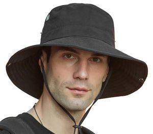 Мужчины Летний Открытый Защита ВС дышащая Fisherman Cap Складная ведро Hat Омывается Cowboy Hat Рыбак # YL10
