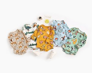 Baby Spring Autumn Jumpsuits Kids Cotton Long Sleeve Cute Animal print Romper for Boys Girls 0-2years old