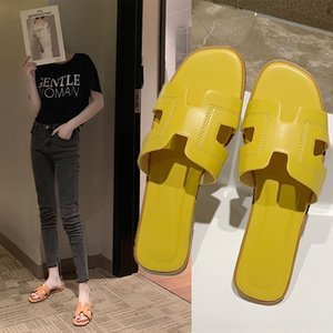 2020 Hausschuhe für Frauen in der Online-roten Schuhe Outdoor-Schuhe Sandalen fashionsandals flache Abnutzung neue Flach Pantoffel Summershaped qygMT