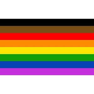 3x5fts 90x150cm Bandera recto del aliado Progreso LGBT orgu Filadelfia phily 8 estilos raya bandera de la nación HH9-3234