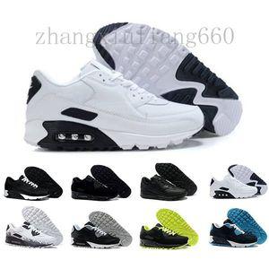 Nike Air Max 90 Airmax nike air max 90 airmax Zapatos para hombre clásico 90 Hombres y mujer Zapatos Negro Rojo Blanco Trainer Cojín de aire Superficie Respirable Zapatos casua