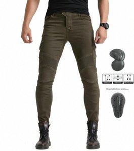 verde militar Volero MOTORPOOL vaqueros de los pantalones UBS06 motocicleta equipo de protección contra los pantalones vaqueros de los hombres moto de carreras MCYC #