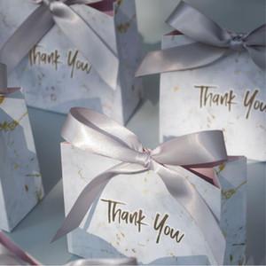 Nueva caja creativa de mrmol gris de regalo para fiesta Baby Shower cajas papel paquete / cajas dulces boda