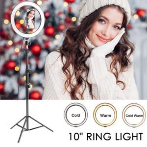 Selfie Anello Fotografia Luce leggera da 10 pollici 6inch condotto bordo della lampada con il supporto di mobili di grandi treppiede per YouTube Live Ringlight trucco