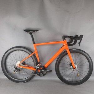 أحدث الطلاء مخصص 22 سرعة قرص الفرامل دراجة كاملة العجلات الكربون مع shiman0 r7020 groupset tt-x19