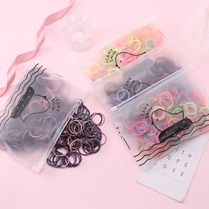 50pcs Set Bag Packing Girls Cute Basic Elastic Ponytail Holder Rubber Band Headband Fashion Hair Accessories