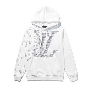 Nuova SS19 Mens dell'annata classica stampa Felpe con ricamo Hip Hop Felpa Casual Male Hooded Pullover maglione invernale Jumper