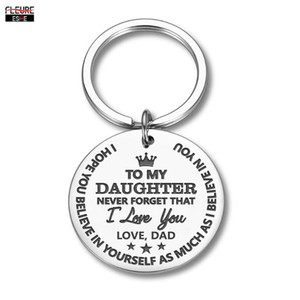 Inspirational Gifts Keychain To Daughter Birthday Christmas Present Encouragement Keyring To Girls From Mom Dad Family Pendant