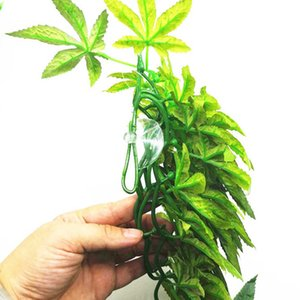 12 Inch Plastic Artificial Vine For Reptile DIY Simulated Plant With Suction Cup