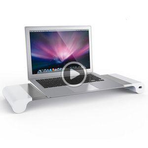Fasion Computer Modern Monitor Stand T Recargeale Laptop Stand Tale ig Qlity en alliage d'aluminium Noteook support de bureau Samantha