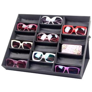 De red de 18 gafas de sol de la caja de almacenaje Organizador de los vidrios del sostenedor del soporte del caso de exhibición Gafas de sol de las lentes de la caja del caso MX200810