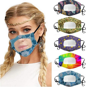 Masks Clear Window Visible Mouth Mask Lip Language Dustproof Mask Fashion Designer Face Mask Adult Lace Floral Visible Mouth Cover