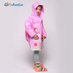 okul çantası ceket ile Eva Schoolbag Yağmur dişli karikatür çocuk panço moda Çocuk trençkotu yağmur dişli panço