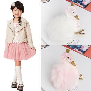 1 PCS Lovely Cartoon Swan Temperament Baby Hairpins Kids Hair Clips Princess Barrette Children Headwear Girls Hair Accessories
