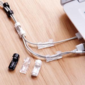 Clips 20pcs de almacenamiento de alambre de Gestión de la hebilla de sujeción de cable Organizador abrazadera del cable de línea de datos acabado Carcasa decoración herramienta fija