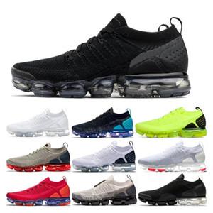 Nike Vapormax Flyknit 2020 Koşu ayakkabıları 2.0 Moc Örme Üçlü Siyah Beyaz Buğday Gym Mavi Ruh Oreo Zapatos Chaussures Womens Sneakers Boyut 36-45