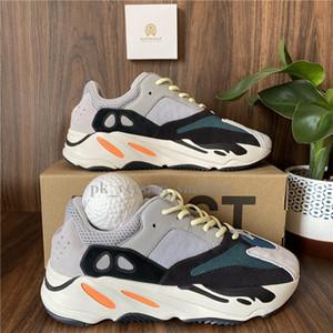 Kanye West de los zapatos corrientes 700 corredor de la onda Hombres Mujeres Sport zapatillas de corredor de la onda inercia Tefra imán Utilidad Negro malva Des Chaussures