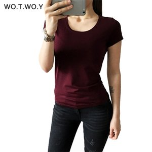 High Quality 21 Candy Color Cotton Basic T-shirt Women Casual O-neck Female T Shirt For Women Short Sleeve Female Tops 001 0924