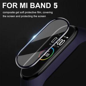 3D закаленное стекло для Xiaomi Mi диапазона 5 Защитное стекло Miband 5 Полный изогнутый край, устойчивый к царапинам Для Xiomi Mi Band5 Film