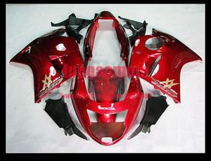 Moto INJECTION ABS flamme kits carrosserie rouge Carénage Kit carrosserie pour HONDA CBR 1100 XX CBR1100XX 06 05 04 1996-2007 03 02 96 97 98 + cadeau