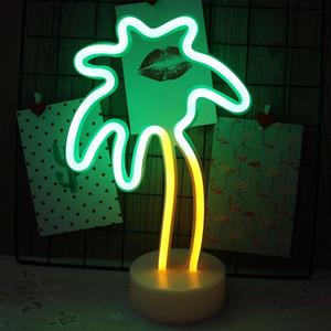 Alberi di cocco Neon Sign Luci LED a mano arte visuale Camera Bar Christmas Party smontabili della parete di desktop a doppio scopo