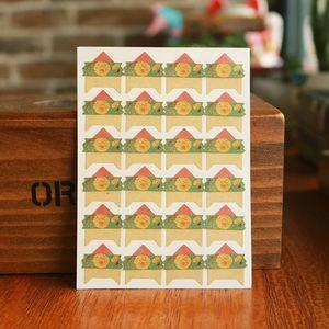 96 pcs lot 4 sheets Vintage flowers Corner Paper DIY Stickers for Photo Album Scrapbooking Protect photo Frame albums Decoration
