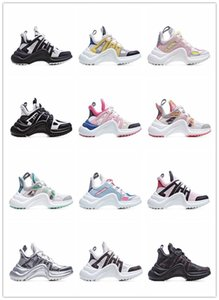 LV  Hot vente Archlight Mode Ultra Mesh respirant et chaussures en cuir Casual lacent Formateurs Marque Street Styles Sneakers Bp1c #