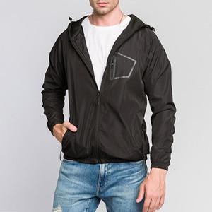 Men's Autumn Winter Jacket Coat Men Long Sleeve Solid Color Fashion Hooded Jacket Casual Loose Zipper Cargidans Top