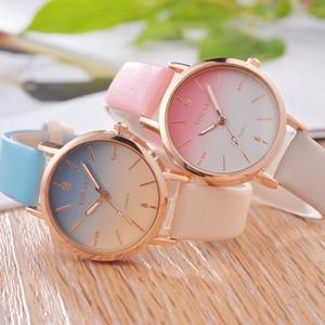 Femmes Montres Trending style décontracté Quartz bande de cuir nouveau bracelet horloge analogique montre-bracelet distingué