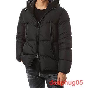 Moda nuovo inverno giù giacca corta in calo del 90% piume d'anatra bianca degli uomini del rivestimento di alta qualità giù ricamo formato XS-XL