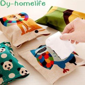 Полотенце корейского мультфильма животные хлопок белье бумаги Набор автомобили Бытового Бумажный мешок Tissue Box насос Box Tissue