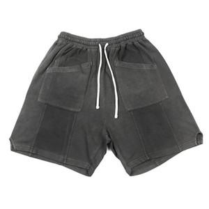 Vintage-Washed Cotton Sweatshorts Kanye Relaxed Fit Reversed Terry Shorts Four Pocket Styling MX200815