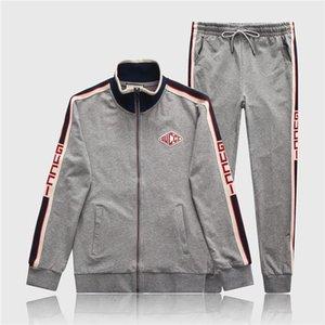 2020 Erkek Designe tam zip tasarımcı eşofman adam medusa spor takım elbise Erkekler jogger seti moda erkek Hoodies Sweatshirt açık spor