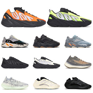 2020 Yayın Kanye 700 Erkek Sneakers Koşu Ayakkabı Azael Alvah Fosfor Turuncu Utility Siyah Dalga Runner Kemik Kadın Spor Boyutu 36-45