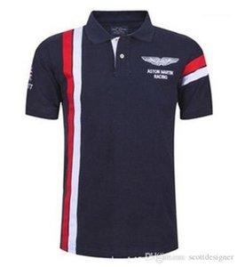 Mens Designer Polo Estate manica corta risvolto Mens Tops Moda Tennis Sport Mens Tees Golf a righe Stampa