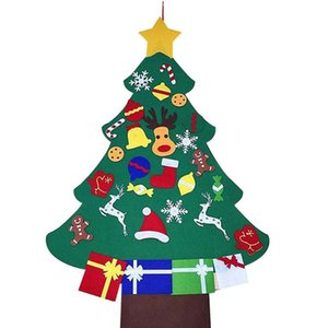 3D Felt Christmas Tree Shape Pendant with 29x Decoration Wall Window Dressing Children DIY Decor