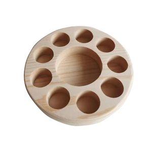 Rund Mehrloch Ständer Rack-Ätherisches Öl-Anzeige-Organisator-Halter Eine Schicht Regal Log Farbe Natur aus Holz Custom Tailor 9BQ B2