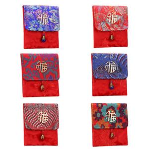 Ricamato Brocade Fabric Diecimila Thousand Red Envelope Bag fortunato Seal personalizzata di nozze creativo Benedizione Red Envelope