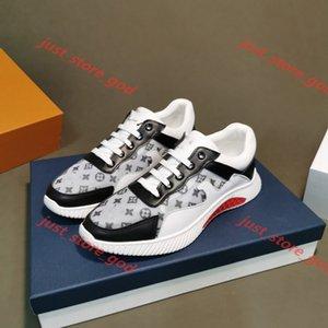 Louis Vuitton deporte de bajo precio cuero blanco zapatos de la plataforma superior Luxe Diseño Best alta calidad hombres de moda zapatos planos casual de la boda del partido