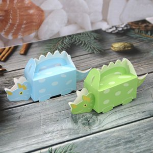 (50 Pieces lot) Animal candy box of Dinosaur design Baby Box for baby birthday gift and baby shower decoration box favors