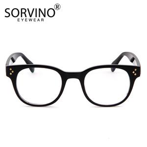 Transparente óculos de armação Sorvino Vintage Óculos Limpar Lens Sun-vidros ópticos espetáculo Stand para Mulheres Moda Luxo