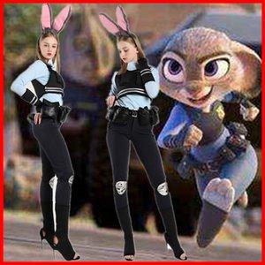 Loca de Halloween animales Ciudad de anime conejo personificado ropa femenina oficial de policía cosplaycostume de Halloween animales loca Ciudad anime del traje