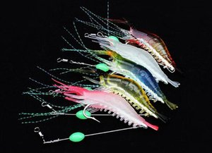90mm 7g Soft Simulation Prawn Shrimp Fishing Floating Shaped Lure Hook Bait Bionic Artificial Shrimp Lures With Hook